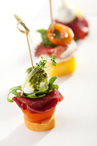 Delicious Meat and Vegetables Canapes