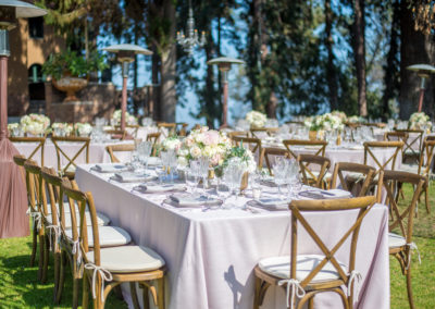 wedding reception set up hollywood mansion